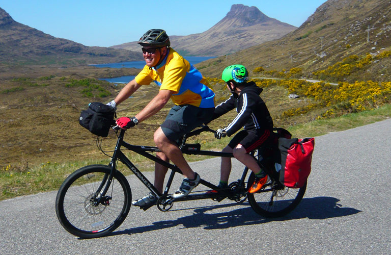 Tandem Cycling near Fort William