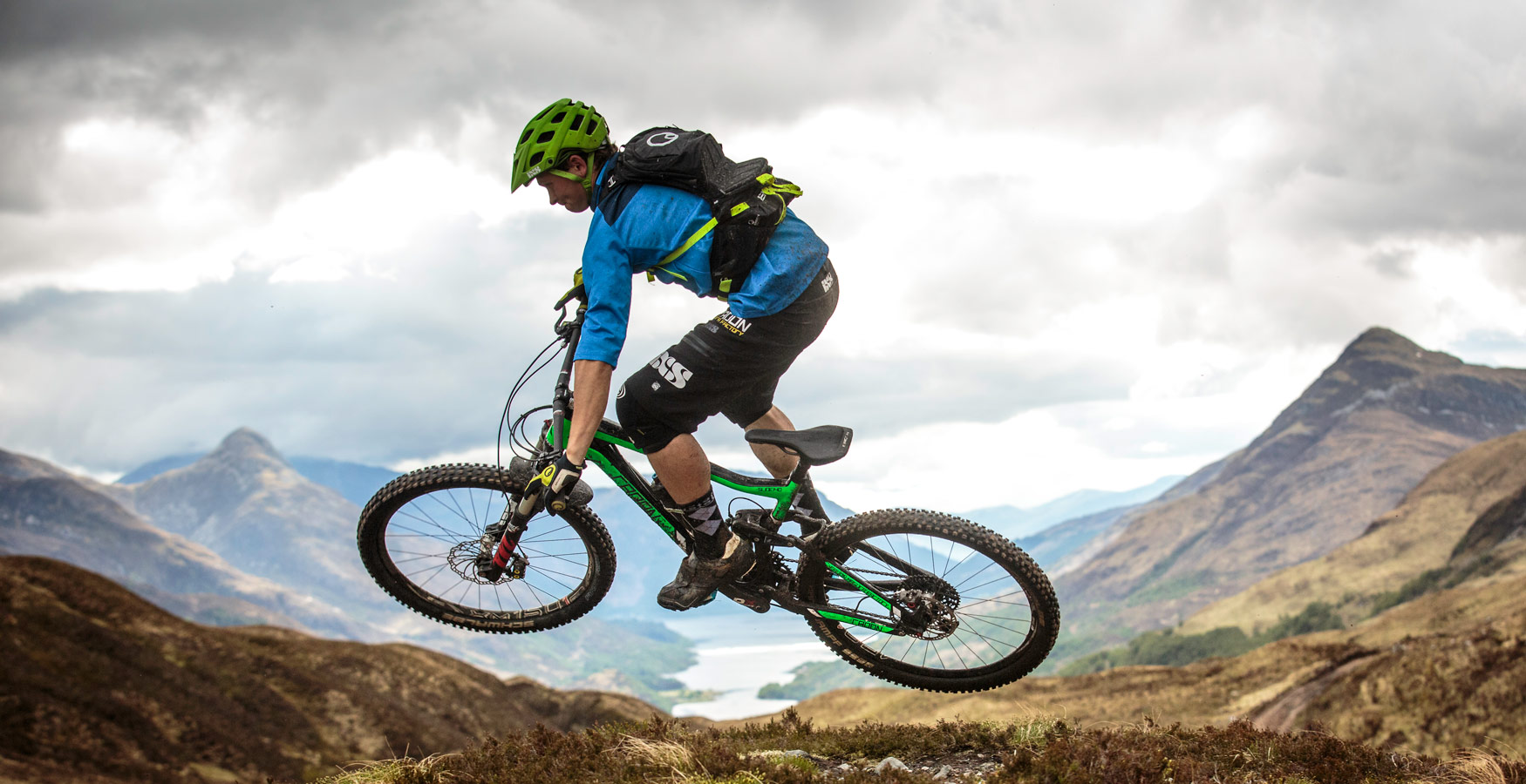Mountain biker near Fort William