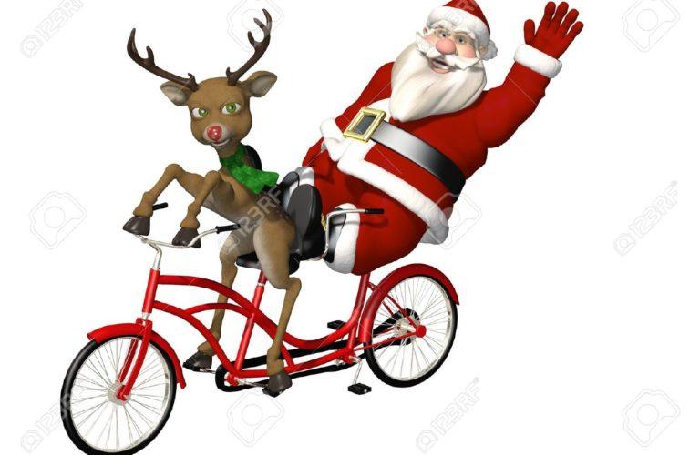 Biking Santa
