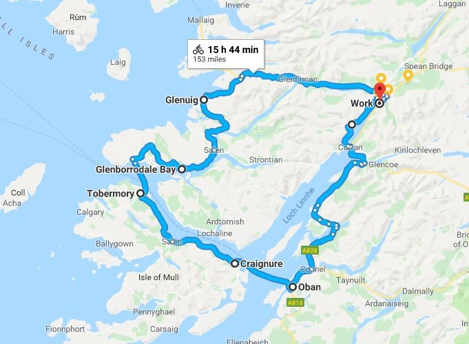 West Highland 150 Mile Cycle Route
