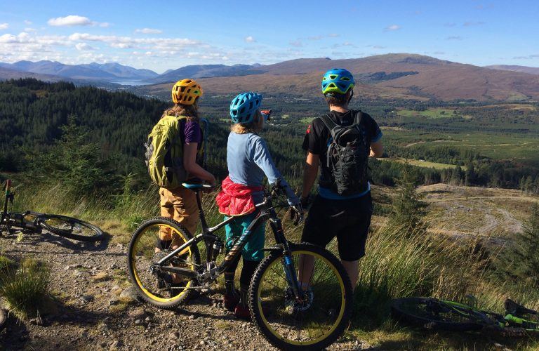 Mountain biking Fort William